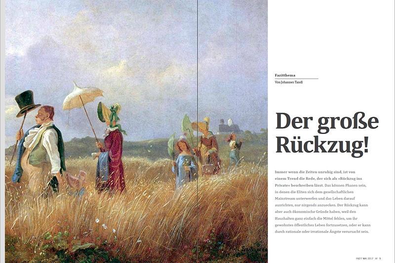Illustration: Carl Spitzweg (Der Sonntagsspaziergang)